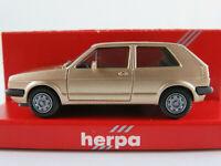 Herpa 3051 VW Golf II GTI (1984-1987) in goldmetallic 1:87/H0 NEU/OVP