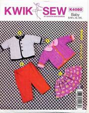 KWIK SEW SEWING PATTERN 4080 BABY GIRLS/BOYS S-XXL QUILTED JACKET, SKIRT & PANTS