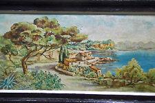 Huile marine. L'étang de Berre à Istres. Ecole provençale. Milieu XXè. A.Temine