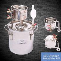 10L Home Distiller Moonshine Stainless Steel Still Spirits Water Oil Making Kit