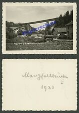 orig. Foto Reichsautobahn RAB Mangfallbrücke Mühltal Häuser Weyarn Miesbach 1938