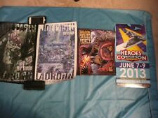 * COOL POSTER LOT ** SILVER SURFER * HIP FLASK ADVENTURES X 3 * LADRONN * RARE *