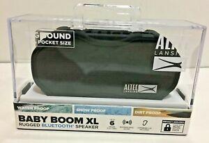 Altec Lansing  Baby Boom XL Rugged Bluetooth Speaker IMW270-BLK-WM New