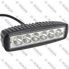 "6 CREE LED 18W 6"" OFF ROAD/SPOT LIGHT BAR DRIVING AUXILIARY LAMP CAR/BIKE- 1pc"