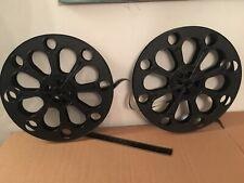 2, 35Mm 2000 Ft. 14.5 X 1 3/4 Inch Plastic Split Movie Theater Film Reel Display