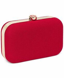 GIORGIO ARMANI Beauty Red Luxury Evening Clutch Purse Case Bag NEW IN BOX