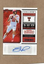 nic shimonek auto card rc 2018 contenders 296 san diego chargers