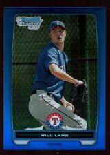 WILL LAMB RANGERS 243/250 BLUE REFRACTOR ROOKIE CARD RC SP 2012 BOWMAN CHROME