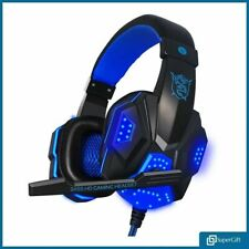 Gaming Headset USB Wired Over LED Headphones Stereo with Mic For Xbox One/PS4 PC