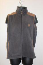 Gunes Men's Full Zip Fleece Vest Italy Flag Emblem Size: XL