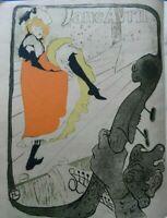 TOULOUSE-LAUTREC: Jane Abril - Litografía Colores Firmada, 1927 , Precio