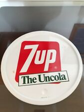 VINTAGE SIGN TRAY Round 7 Up The Uncola Cola Soda Drink Bar Serving Bar TRAY