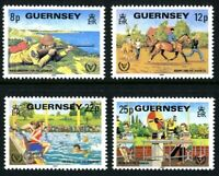 GUERNSEY 1981 YEAR OF DISABLED PEOPLE SET OF ALL 4 COMMEMORATIVE STAMPS MNH (a)