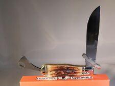 Marbles Stag Bone Handles Safety Folder Pocket Knife MR204 ~ NEW
