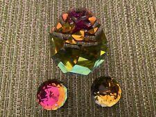 """Swarovski Crystal Rainbow Cone Rio & Two Round Paperw """"No Box""""@Low Price"""""""