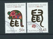 CHRISTMAS ISLAND 2008 YEAR OF THE RAT  FINE USED