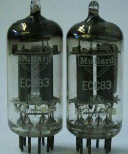 ECC83 Mullard UK rare ring getter on goalpost support  USED 2 pieces tube valve