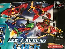 Mechanix 4-in-1 Aircraft Construction Set. 4 kits