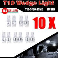 10PCS Super White High Power T10 Wedge SAMSUNG LED Light Bulbs W5W 192 168 194