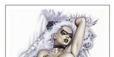 BLACK CAT - Sexy Pin-Up Print by Lady Death Artisit ALEX MIRANDA
