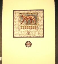 "Original Mixed Media Mono Print by Annrika McCavitt ""Royal Guardians II"""