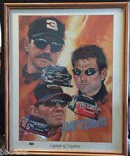ROBERT TANENBAUM LEGENDS OF DAYTONA NASCAR Lithograph & Magazine w/COA 133/2001