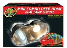 New Zoo Med Mini Combo Deep Dome Dual Lamp Fixture, Black, 5.5-Inch Domes