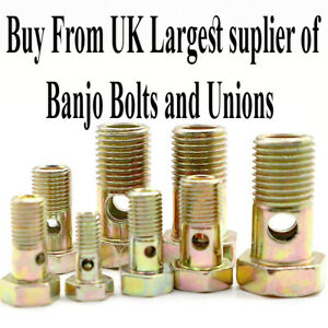 Banjo Bolt Banjo Union for Fuel Line Fittings Banjo Fitting Hydraulics Car Truck