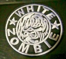 """US SELLER!!!  WHITE ZOMBIE ~ IRON ON PATCH ~ 3.25"""" x 3.25"""" ~ HEAVY METAL ~ NEW"""