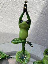 Yoga Frog Figurines Set Of Three