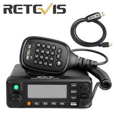 Rt90 Dmr Dual Band Color Lcd Display 3000 channel Tdma Mobile Car Radio w/ Cable