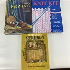 Three book/sewing/needlecraft/knitting book bundle job lot three items