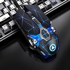Gaming Mouse Silent Wired 3200dpi LED Professional Gaming Mouse Laptop PC USA