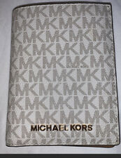 Micheal Kors Bedford Travel Medium Logo Stripe Passport Wallet