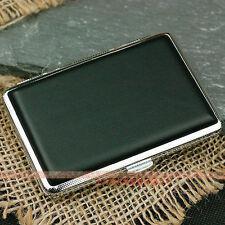 Black Leather Cigarette Case Box Hold For 14 Cigarettes 307B