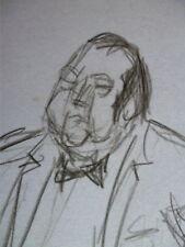 ++ Rare. Raymond Devos.  Original  de Charles Kiffer +Très bel autographe.