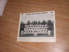 Huge Original 1970 Baltimore Orioles World Series Champions Team Photo Poster