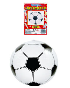 Inflatable Football Blow up Soccer Beach Ball Swimming Summer Party Bag 40cm Toy