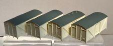 Wrenn Model Railways FOUR white plain fish van bodies with painted roofs- NEW