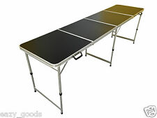 8FT FOOT BLACK ALUMINIUM FOLDING 4 SECTION TABLE CATERING CAMPING MARKET