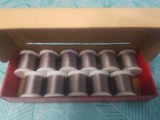 Vintage 11 Nos Spools Nylon Rod Winding Fly Tying Thread Gudebrod sz.A 5 Silver