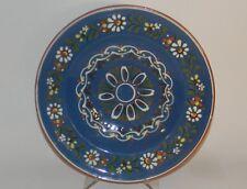 PFK Pfrontner Keramic Art Pottery Earthenware Glazed Blue Floral Plate German