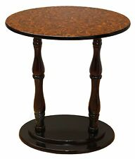 New Uniquewise Oval Accent Side End Table, Espresso Brown Finish, QI003137