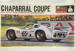 Monogram PC142 1/24 Scale Chaparral 2D Coupe Prototype Sports/Racer Model Kit