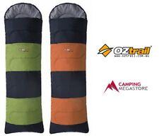 OZTRAIL KENNEDY HOODED SLEEPING BAG 10 DEGREES-GREEN