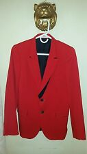 2500.00 Paul Smith Red Black Shadowed Wool Blazer Men's Size 36 Small
