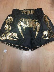 Venum BANGKOK INFERNO MUAY THAI Shorts Men's Large Black/gold