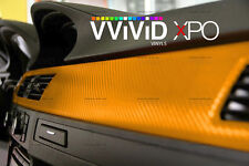 Yellow dry carbon fiber car wrap vinyl 30ft x5ft VViViD XPO 3D cast stretch film