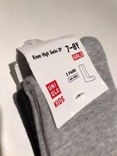 Grey and Black Knee High Socks 7-8Y Two Pair