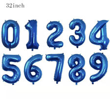 """32"""" Navy Digital Number Balloons Large Big Foil Mylar For Birthday Party Pink"""